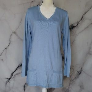 New York & Co V-Neck Soft Long Sleeve Top Size XL
